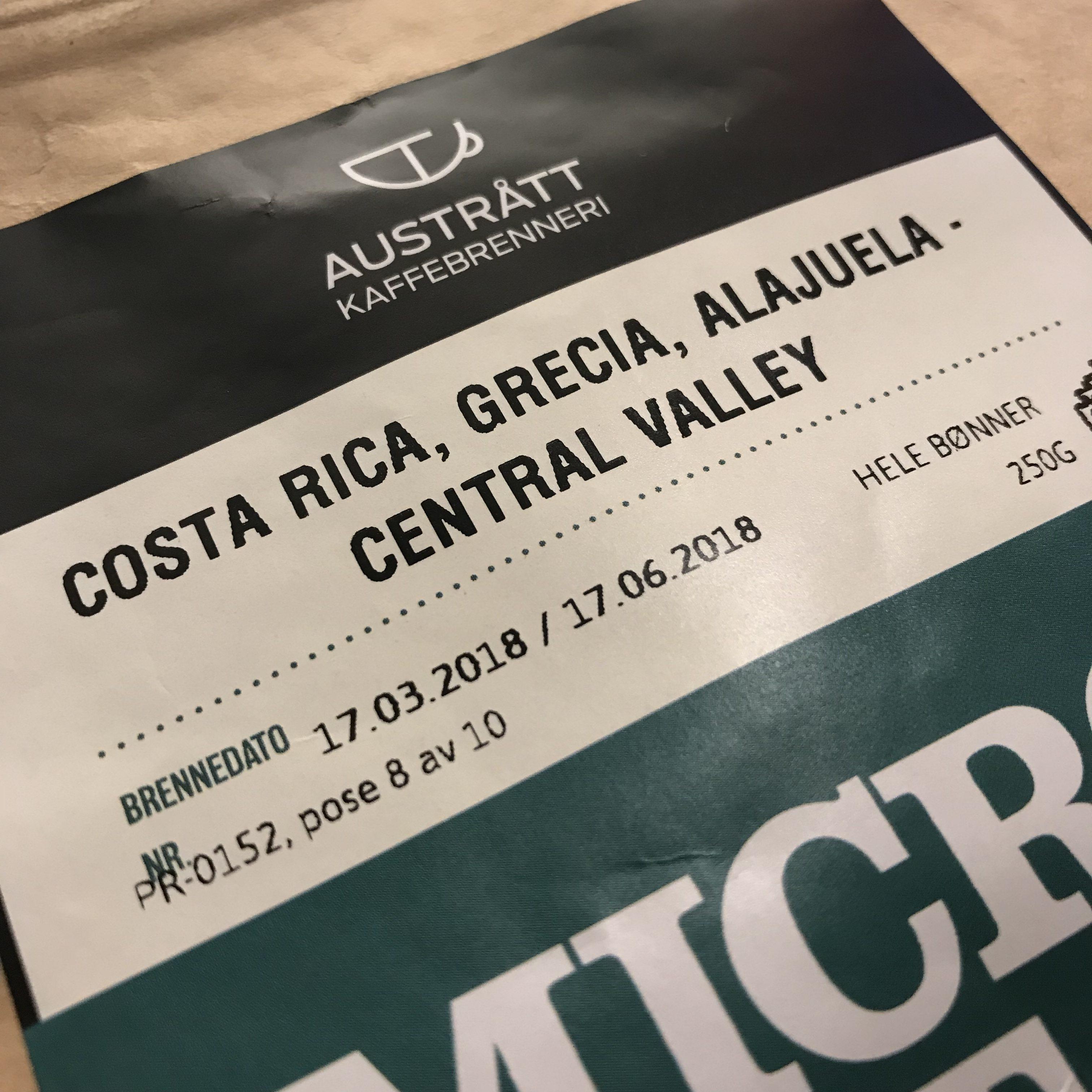 Austrått Kaffebrenneri Microlot Costa Rica