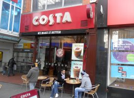 No coffee for the kids at Costa Coffee in the U.K.